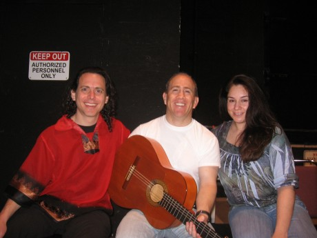 Eric Zang, Chris Jacome & Olivia Rojas at 8am ready to rehearse!